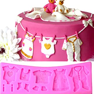 Yunko Baby Shower Clothes Hanger Cake Decorating Fondant Silicone Mold Chocolate Candy Cupcake Mold