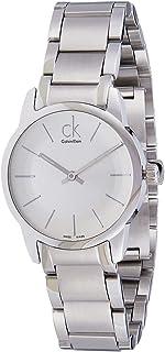 Calvin Klein Women's Silver Dial Stainless Steel Band Watch - K2G23126