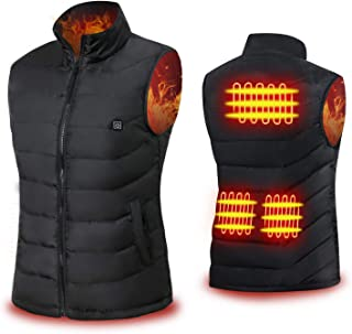 Cenow Heated Vest, Unisex Heating Jacket USB Electric Heating Vest Clothing