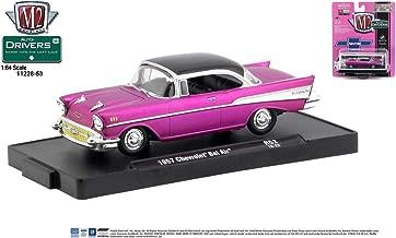 M2 Machines Auto-Drivers 1:64 R53 1957 Chevrolet Bel Air Satin Pink
