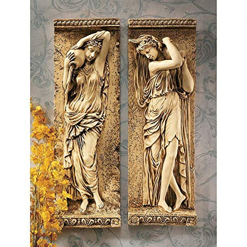 Design Toscano Water Maidens Wall Friezes Set Includes: Dordogne and Seine