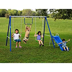 metal swing set for toddlers preschoolers on Amazon
