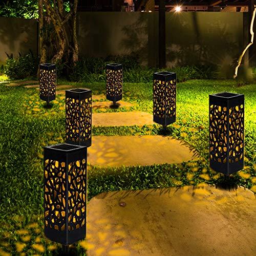 Sylanda Solarlampen für Garten Solarleuchte Dekoration Licht, Solarleuchten Garten, Wasserdicht Dekorative Licht für Terrasse Gehwege Rasen Patio-6 Stück