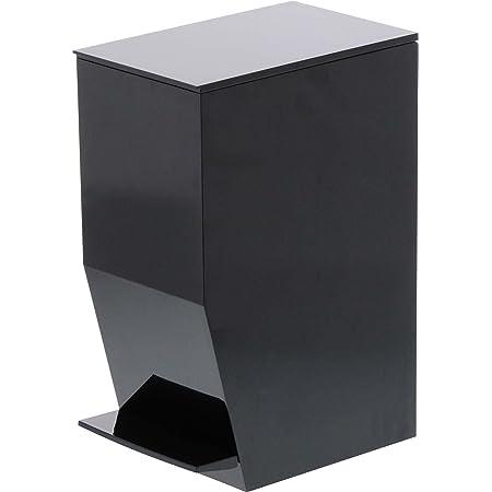 山崎実業 ゴミ箱 ペダル式トイレポット タワー ブラック 3386