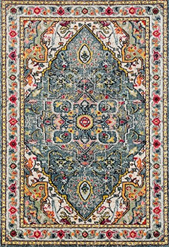 514 Blue Bohemian 5 x 7 Area Rug Carpet