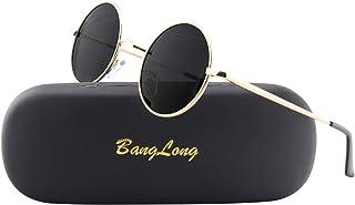 BangLong Gafas de sol vintage polarizadas gafas de sol redondas retro unisex