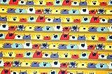 by Poppy Baumwolle Freche Monster' senfgelb 0,5m