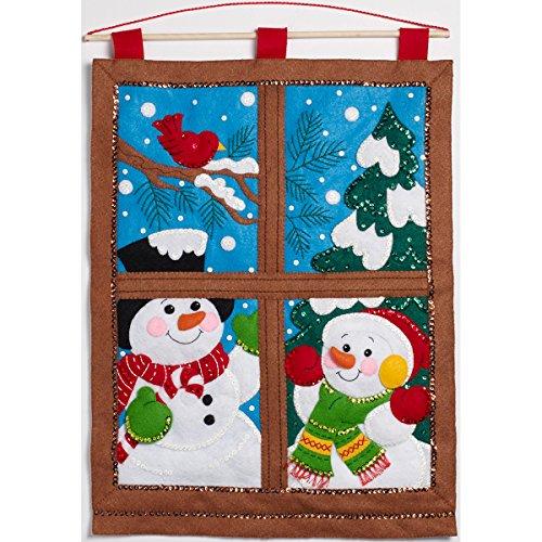 Bucilla Felt Applique Wall Hanging Kit, Winter Window, 15 21-Inch, , 15' x 21'