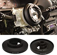 Kyostar 6-Hole Steering Wheel Short Hub Adapter, Black Aluminum Steering Wheel Quick Release Hub Adapter Kit for 91-98 BMW E36 M3 318 328i 325i 325is 328 Z3 E39