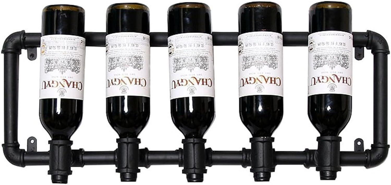 Más asequible Vintage Wine Racks Racks Racks Soporte de parojo Metal Bar   Portabotellas de vino   Rustic Wine Holder montado en la parojo   Estantes Flotantes LOFT Wall Wine Shelf Storage Organizer   Diseño de decoración para e  ¡No dudes! ¡Compra ahora!