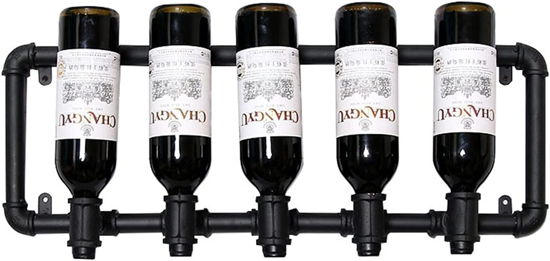 mejor servicio Vintage Wine Racks Racks Racks Soporte de parojo Metal Bar   Portabotellas de vino   Rustic Wine Holder montado en la parojo   Estantes Flotantes LOFT Wall Wine Shelf Storage Organizer   Diseño de decoración para e  exclusivo