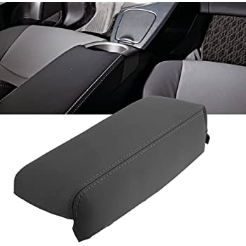 Ezzy Auto Black Leather Center Console Armrest Lid Cover Center Console Armrest Box Cover fit for 2009 2010 2011 2012 Toyota Corolla
