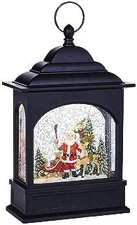 RAZ Imports Santa Selfie Lighted Water Lantern 11 Inch Lighted Christmas Snow Globe with Swirling Glitter