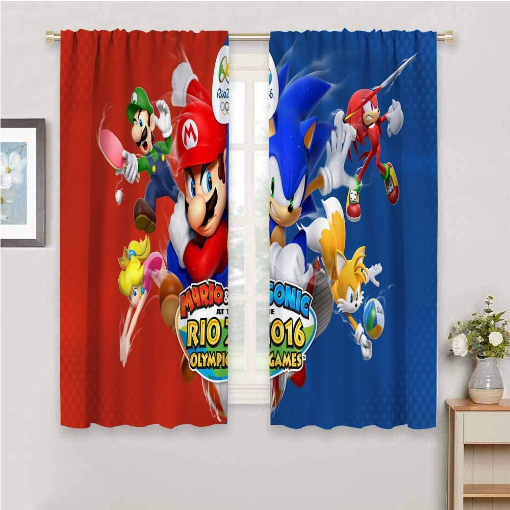 Zmcongz Room Darkened Curtain Sonic for Curtains Waterpr Bombing new work Bedroom Special sale item