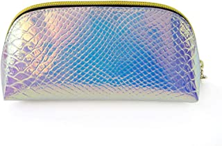 RemeeHi Fashion Hand Organizer Bag Shiny Hologram Laser PU Waterproof Makeup Cosmetic Bag Purple