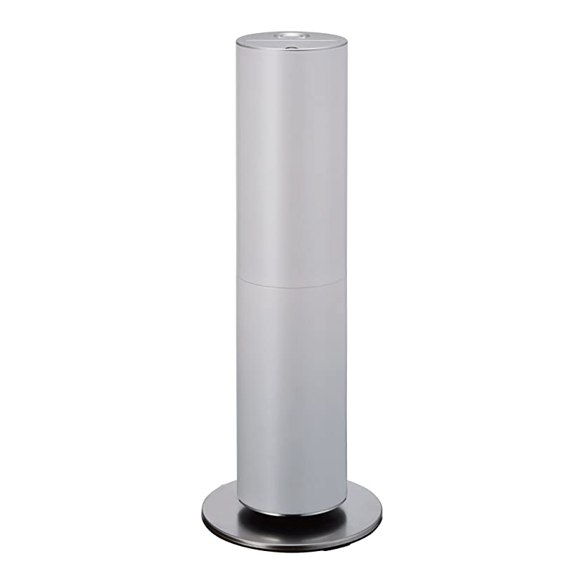 マーガレットミッチェル珍しい切手d-design 加湿器 ハイブリッド式 上部給水型 お手入れ簡単 タワー ホワイト KMHS-702 WH