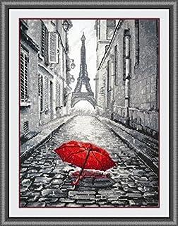 Paris sous la pluie, point de croix,135x200 point,35x47cm,Paris sous la pluie point de croix