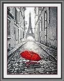 SWEET HOME París en la Lluvia Kit Punto de Cruz, 14ct, 135x200punto, 35x47cm Kit Punto de Cruz