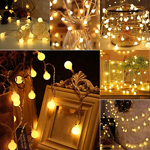 String Lights 16ft 50 Led Fairy Lights,8 Modes Lights for Christmas Outdoor/Indoor, Garden Patio,Gazebo,Bedroom,Rooms,Party Wedding Decorations Holiday, Warm White