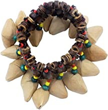 ammoon Nuts Shell Bracelet Handbell for Djembe African Drum Conga Percussion Accessories