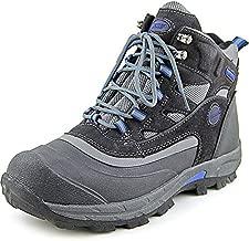 Khombu Men's Fleet Hiker Terrain Weather Rated Winter Boots Snow Grey/Blue (8 M)