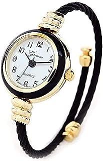 Black Gold Geneva Cable Band Women's Small Size Bangle Watch