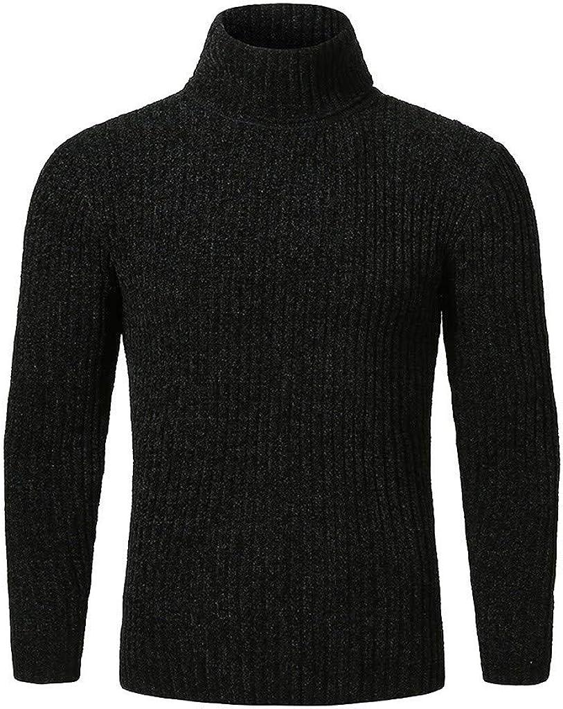 MODOQO Men's Sweater Long Sleeve High Neck Warm Winter Pullover Knitwear Outwear