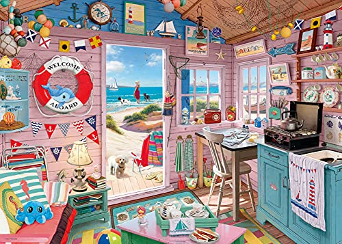Ravensburger My Beach Hut, My Haven 1000 Piece Jigsaw Puzzle for Adults - Every Piece is Unique, Softclick Technology Means Pieces Fit Together Perfectly