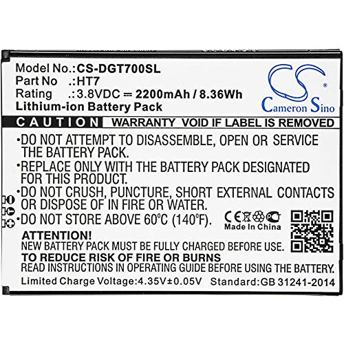 Cameron Sino 2200mAh Replacement Battery for Doogee Homtom HT7, T7, T7 Pro