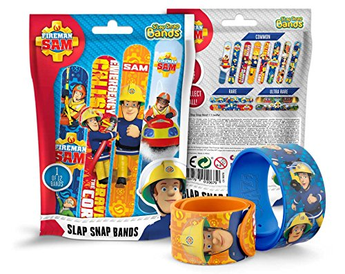CRAZE Slap SNAP Bands Fireman Sam Schnapparmband für Jungen Kinder-Schmuck Armband zum Sammeln Feuerwehrmann 10679, Buntes Klatscharmband