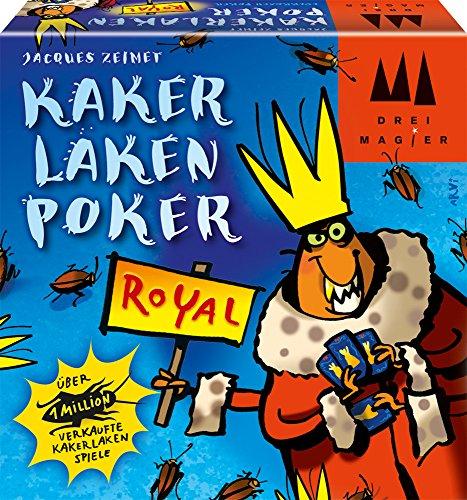 Schmidt Spiele 40866 Kakerlakenpoker Royal, Drei Magier Kartenspiel