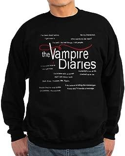 CafePress - Vampire Diaries Quotes Sweatshirt (Dark) - Classic Crew Neck Sweatshirt
