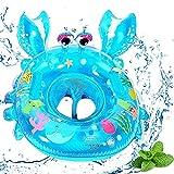 Anillo de natación Bebe,Lindo Patrón Natación Inflable Flotador de Piscina Juguetes de Desarrollo,Apto para niños Menores de 5 años(Azul)