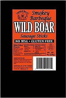 Buffalo Bills Smokey Barbecue Wild Boar Sausage Sticks (8oz of gluten free wild boar sticks)