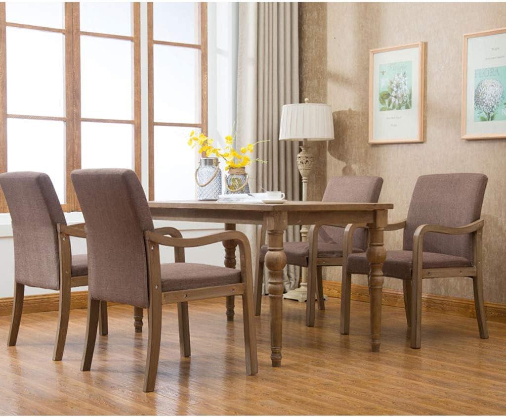 WDX- Chaise de salle à manger simple en bois massif avec accoudoir de restaurant, chaise de loisirs, chaise d'ordinateur pour adultes mode (Color : F, Style : 2) D