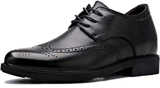DADIJIER Oxfords Vestido Zapatos más altos para hombres Pisos redondos con punta de punta de punta de punta de punta Brogu...