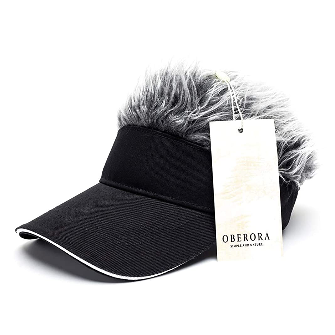 犬ホースケイ素oberoraノベルティ太陽バイザーキャップウィッグPeaked調整可能野球帽子with Spikedヘア