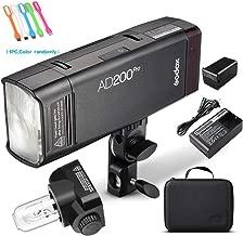 Godox AD200Pro Godox AD200 PRO Outdoor Speedlite,200ws TTL HSS 1/8000s 2.4G Pocket Flash Strobe Monolight with 2900mAh Lithium Battery,0.01-1.8s Recycling, 500 Full Power Flashes,Bare Bulb Flash Head