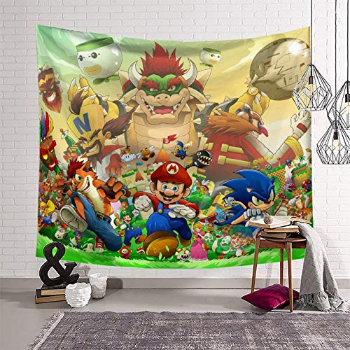 Personality Tapestry Super Mario for Walls Black and White Tapestry (150x210cm)
