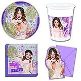 Gameworld 42-Teiliges Violetta Gold Edition Party-Set INKL. Pappteller, Kunststoffbecher, Papierservietten und Einladungskarten [Importación Alemana]