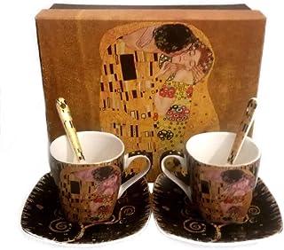 dise/ño de El beso de Gustav Klimt porcelana Queen Isabell Taza de caf/é con cuchara 300 ml