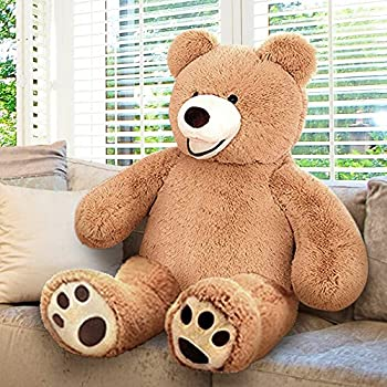 ArtCreativity 4 Feet Giant Teddy Bear - Extra Plush and Soft Toy - Jumbo Large Stuffed Animal for Kids and Adults - Huge Plush Bear - Great Gift Idea for Boys and Girls - Gigantic Carnival Prize