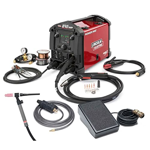 Lincoln Electric POWER MIG 210 MP Multi-Process Welder TIG One-Pak - K4195