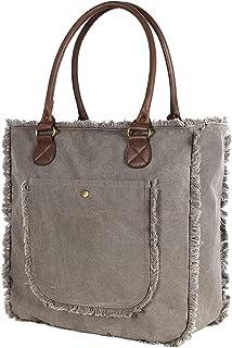 Bella&Quinny Damen Mädchen Sommertasche Tasche Groß, robuste Qualität aus 2 Lagen 160oz gewaschenem Canvas. Ideal als Eink...