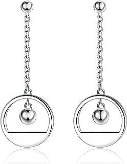 Gemshadow da donna in argento Sterling 925geometrici orecchini a goccia