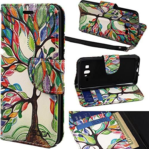 Galaxy On5 Case Samsung Galaxy On5 Wallet Case SOGA PU Leather Magnetic Flip Design Wallet Case product image