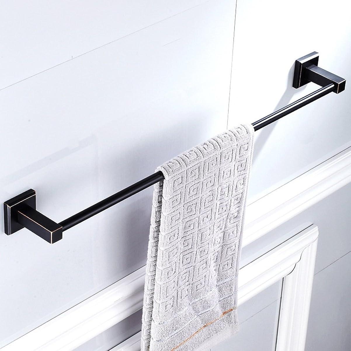 衣服省陽気なX-y-y 黒タオル片ロッド浴室全銅タオルラック浴室タオルバーアメリカのハードウェアペンダント