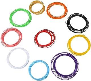 Akozon 10 Colors 5m/roll 3D Printer Pen Filament ABS/PLA 1.75mm Plastic Consumables Material(PLA)