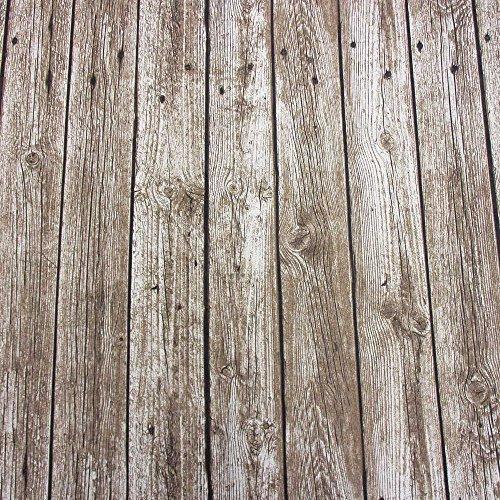 Stoff Meterware Bretter beige Schiffsplanken Holzboden Bohlen Diele Fotodruck