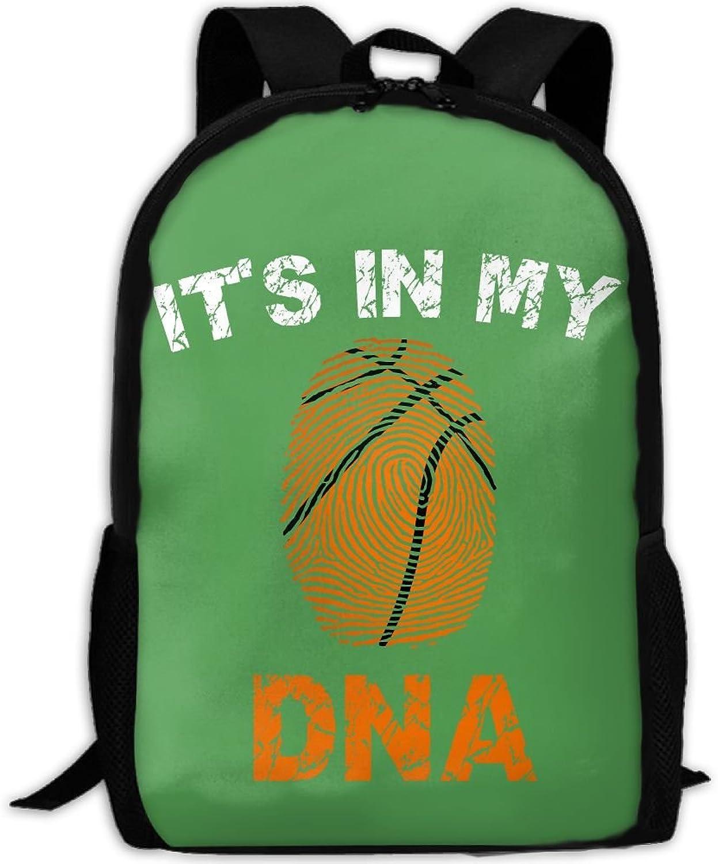Backpack Laptop Travel Hiking School Bags My Basketball DNA Daypack Shoulder Bag